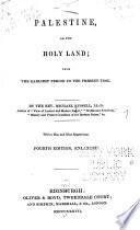 Palestine Or The Holy Land