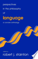 Perspectives in the Philosophy of Language Book