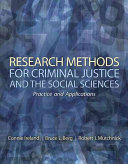 Research Methods for Criminal Justice and the Social Sciences