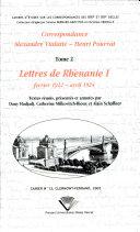 Correspondance Alexandre Vialatte-Henri Pourrat, 1916-1959