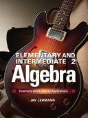 Elementary & Intermediate Algebra Pdf/ePub eBook