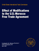 Effect of Modifications to the U S  Morocco Free Trade Agreement  Inv  FTA 103 11