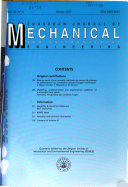 European Journal of Mechanical and Environmental Engineering Book