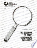 The Question of State Government Capability