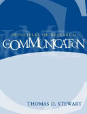 Cover of Principles of Research in Communication