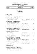 George Mason University law review