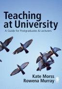 Pdf Teaching at University Telecharger