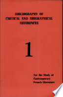 bibliography of critical and biographical references