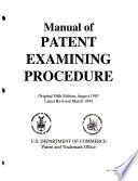 Manual of Patent Examining Procedure