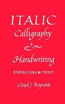 Italic Calligraphy and Handwriting