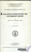 Evaluation of Motion picture Film for Permanent Records