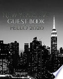 New Years Eve NYC Themed Guest Blank Book Hello 2020