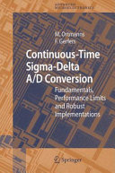 Continuous Time Sigma Delta A D Conversion