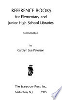 Reference Books for Elementary and Junior High School Libraries