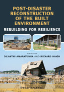 Cover of Post-Disaster Reconstruction of the Built Environment