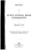 Report of the State School Book Commission
