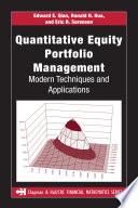 Quantitative Equity Portfolio Management
