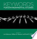Keywords for Environmental Studies Book