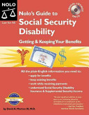 Nolo's Guide to Social Security Disability: Getting & Keeping Your ...