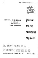 Journal of the Institution of Municipal Engineers