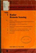 Radar Remote Sensing