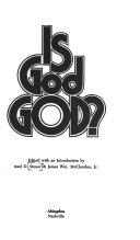 Is God God  Book PDF