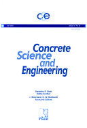 Concrete Science and Engineering