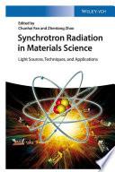 Synchrotron Radiation in Materials Science