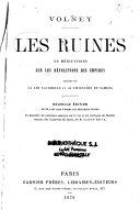 Les ruines ou méditations sur les révolutions des Empires