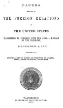 Papers Relating to the Foreign Relations of the United States  and Spain