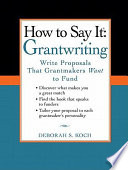 How to Say It  Grantwriting