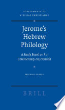 Jerome S Hebrew Philology