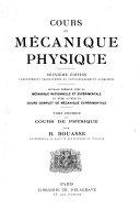 Cours de mécanique physique