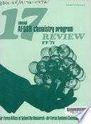 Annual AFOSR Chemistry Program Review