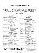 The Era Druggist s Directory of the United States  Canada  Cuba  Porto Rico  Manila  Hawaiian Islands and Mexico