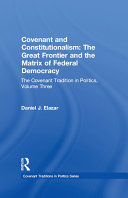 Covenant and Constitutionalism Pdf/ePub eBook
