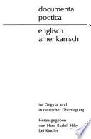 Documenta poetica: Englisch-amerikanisch