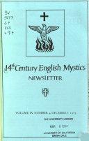 14th Century English Mystics Newsletter Book