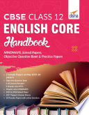 """CBSE Class 12 English Core Handbook MINDMAPS, Solved Papers, Objective Question Bank & Practice Papers"" by Disha Experts"