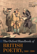 The Oxford Handbook of British Poetry, 1660-1800