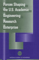 Forces Shaping the U S  Academic Engineering Research Enterprise