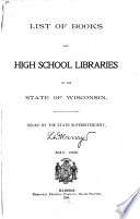 List of Books for Free High School Libraries in the State of Wisconsin