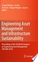 Engineering Asset Management And Infrastructure Sustainability Book PDF