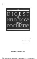 Digest of Neurology and Psychiatry Book