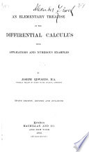 An Elementary Treatise on the Differential Calculus Book