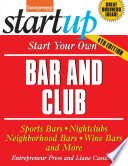 Start Your Own Bar and Club Book