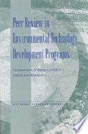 Peer Review In Environmental Technology Development Programs