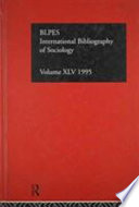 International Bibliography Of Sociology 1995