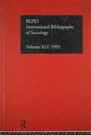 International Bibliography of Sociology 1995