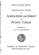 Lives of Alexander the Great and Julius Caesar